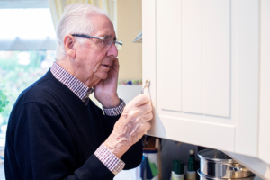Rummaging through cupboards and closets is a common behavior for those with dementia or Alzheimer's disease.