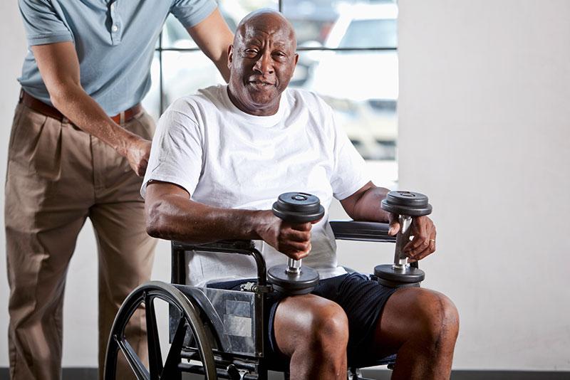 strength training for handicapped senior